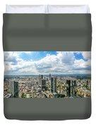 Birdview Of Frankfurt Am Main Duvet Cover