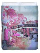 Birmingham Canal Watercolor Duvet Cover