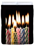 Birthday Candles Duvet Cover by Garry Gay