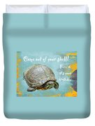 Birthday Card - Painted Turtle Duvet Cover
