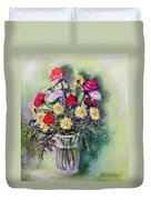 Birthday Flowers Duvet Cover