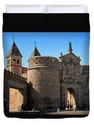 Bisagra Gate Toledo Spain Duvet Cover by Joan Carroll