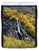 Bishop Creek Falls Duvet Cover