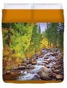Bishop Creek In Autumn Duvet Cover