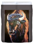 Bison At Dusk Duvet Cover