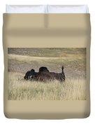 Bison Backscratching Duvet Cover