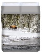 Bison Country  8101 Duvet Cover