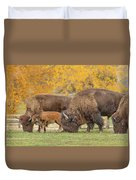 Bison Family Nation Duvet Cover