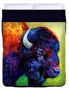 Bison Head Color Study IIi Duvet Cover