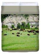Bison Herd II Duvet Cover