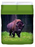 Bison Of Yellowstone Duvet Cover