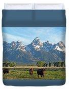 Bison Range Duvet Cover