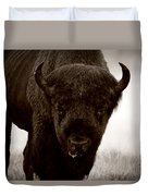 Bison Showdown Duvet Cover