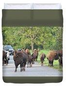 Bison Traffic Jam Duvet Cover