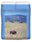 Bison Trail Duvet Cover
