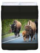 Bison Walking Duvet Cover