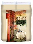 Bistro Mural Detail 2 Duvet Cover