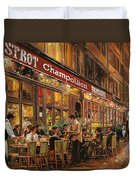 Bistrot Champollion Duvet Cover by Guido Borelli