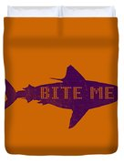 Bite Me Duvet Cover by Michelle Calkins