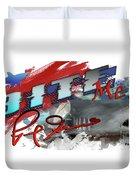 Bite Me Red Graphic Lemon Shark Duvet Cover