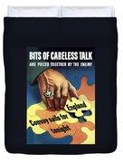 Bits Of Careless Talk Duvet Cover