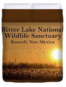 Bitter Lake National Wildlife Refuge Birds, Roswell, New Mexico Duvet Cover