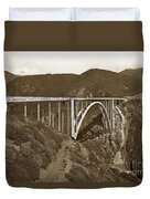 Bixby Creek Aka Rainbow Bridge Bridge Big Sur Photo  1937 Duvet Cover