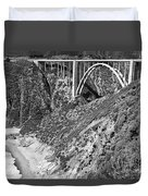 Bixby Creek Bridge Big Sur Photo  Circa 1939 Duvet Cover