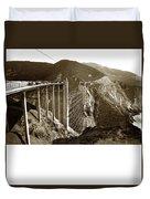 Bixby Creek Bridge Duvet Cover