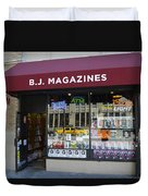 B.j. Magazines New York Duvet Cover
