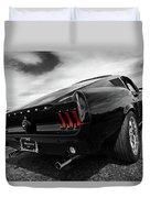 Black 1967 Mustang Duvet Cover