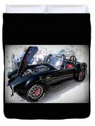 Black 427 Cobra Duvet Cover