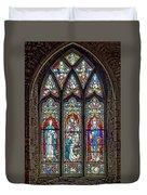 Black Abbey Window - Kilkenny - Ireland Duvet Cover