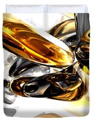 Black Amber Abstract Duvet Cover