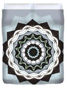Black And Blue Mandala Duvet Cover