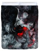 Black And Red Abstract Painting  Duvet Cover