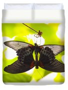 Black And Red Butterflies Duvet Cover