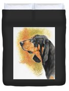 Black And Tan Coonhound Duvet Cover