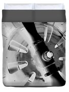 Black And White Abstract 1 Duvet Cover