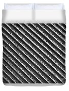 Black And White Abstract Lines Duvet Cover