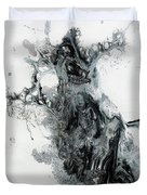 Black And White Abstract Painting  Duvet Cover