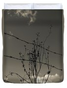 Black And White Barbwire And Branch Duvet Cover