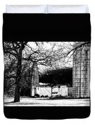 Black And White Barn And Silo Duvet Cover