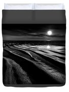 Black And White Beach - Low Tide Duvet Cover