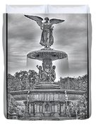 Bedesta Statue Black And White  Duvet Cover