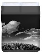 Black And White Blue Ridge Mountains Duvet Cover