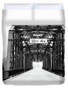 Black And White Bridge Duvet Cover