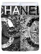 Black And White Chanel Art Duvet Cover