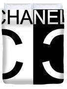 Black And White Chanel Duvet Cover