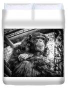 Black And White Chimp Duvet Cover